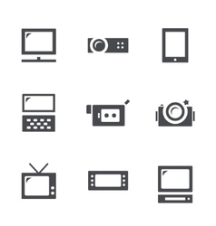 Visualization tools icon set vector image