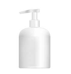 White container for soap vector
