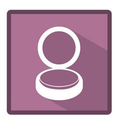 emblem powder makeup icon vector image
