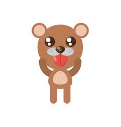 kawaii bear animal toy vector image vector image