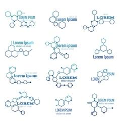 Molecule structure logo or biology model sign vector image vector image