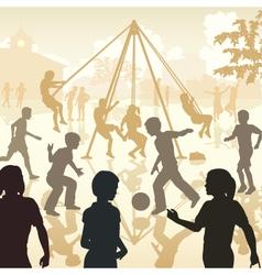 Playground kids vector image