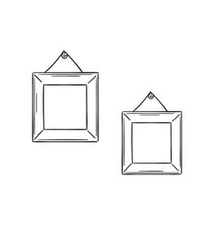 two simple frames in the sketch style vector image vector image