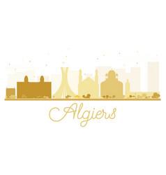 algiers city skyline golden silhouette vector image