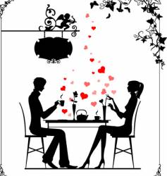cafe cupid vector image vector image