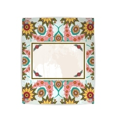 floral background or card with flowers vector image vector image