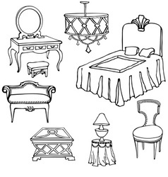 furniture second bed vector image