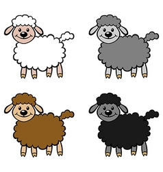 lambs color vector image vector image