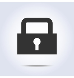 lock icon vector image vector image