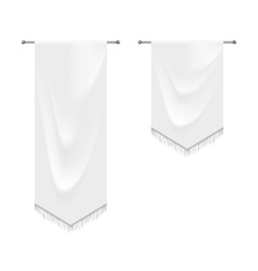 Realistic white textile banners with folds vector image vector image