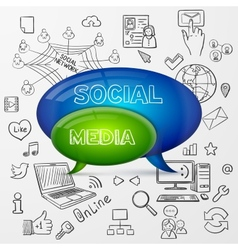 speech bubble social media design vector image