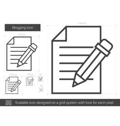 Blogging line icon vector image