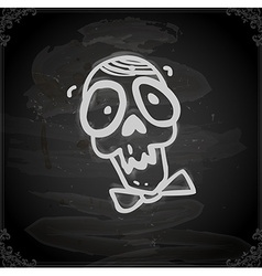 Hand Drawn Skull with a Bowtie vector image vector image