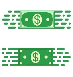 logo fast transfer money dollar bill fast motion vector image