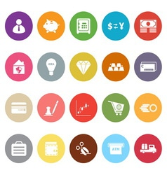 Money flat icons on white background vector image vector image