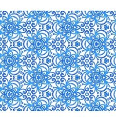 Blue abstract flowers seamless pattern vector image vector image
