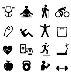 fitness diet and healthy lifestyle vector image vector image