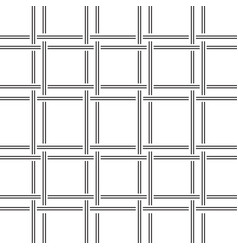 geometric pattern black and white lines weave vector image vector image