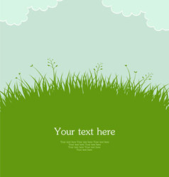 grass template pic vector image