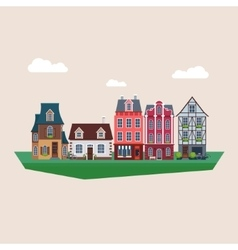 Old Vintage Houses vector image