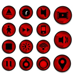 Red Icon vector image