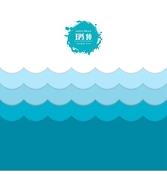 Seamless blue sea wave pattern vector image
