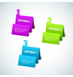 Set of 3D Paper Tag vector image vector image