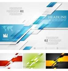 Abstract bright corporate tech background vector