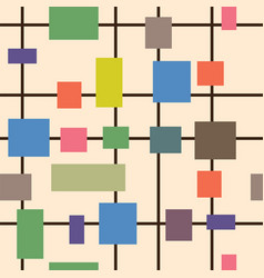 abstract colored shapes squares rectangles and vector image