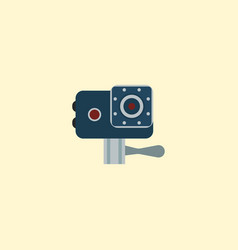 action cam icon flat element vector image