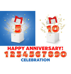 Anniversary construction kit for poster banner vector