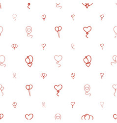 balloons icons pattern seamless white background vector image