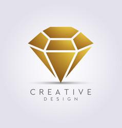 Beautiful and luxurious diamond design clipart vector
