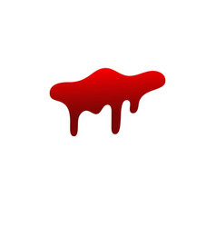 Blood drip drop blood isloated white background vector