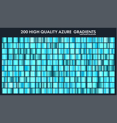 Blue azure chrome gradient setpatterntemplate vector