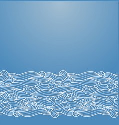 Blue waves ornament vector