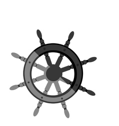 Boat rudder icon vector