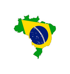 Brazil map on a white background vector