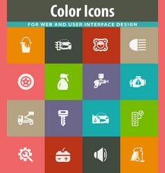 Car shop icons set vector