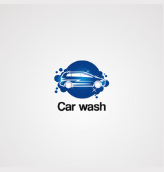 car wash service logo icon element and template vector image