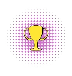 Champions gold cup icon comics style vector