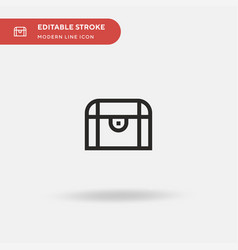 chest simple icon symbol vector image