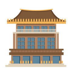 chinese architecture asian construction vector image