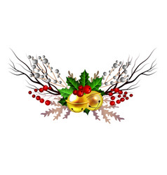 christmas decoration isolated vector image