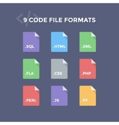 Code File Formats vector image