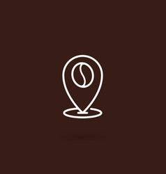 coffee location icon vector image