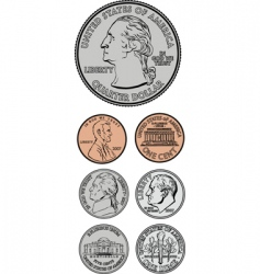 coinage set vector image