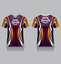 colorful sport jersey with abstract style vector image