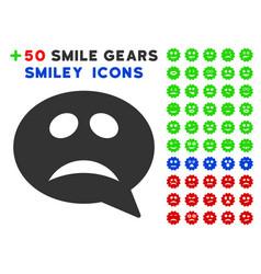 Crisis smiley message icon with bonus facial vector