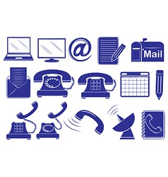 Different medium of communications vector image